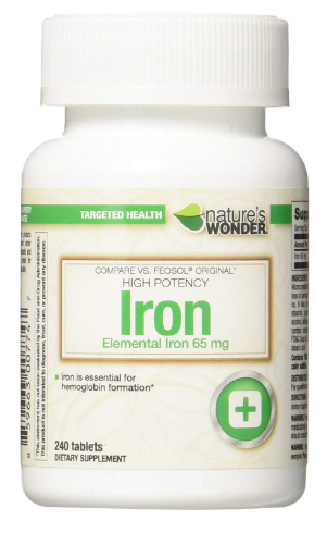 iron deficiency tablets