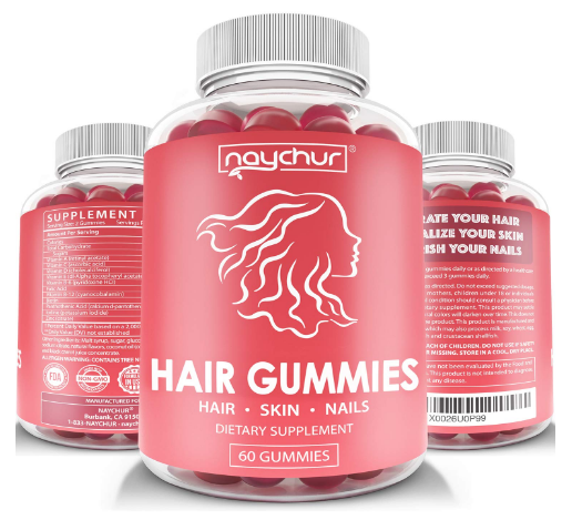 naychur hair gummies